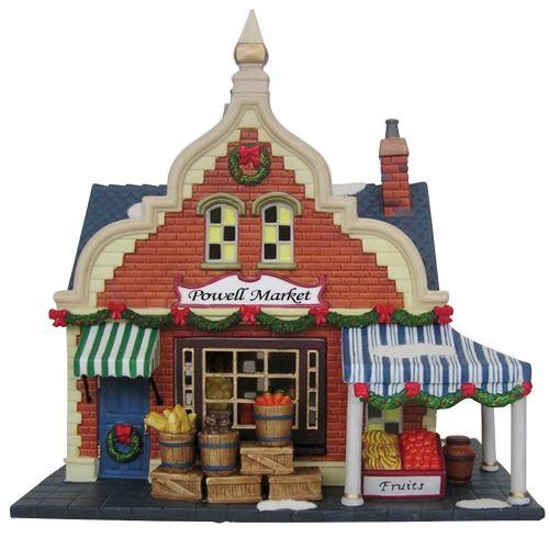 "Heartland Valley Village Lighted House: Heartland Village 9"" Porcelain Village Building Powell"