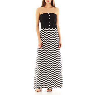 c0c5987ea3d4 Bisou Bisou® Long Strapless Blouson Dress - JCPenney
