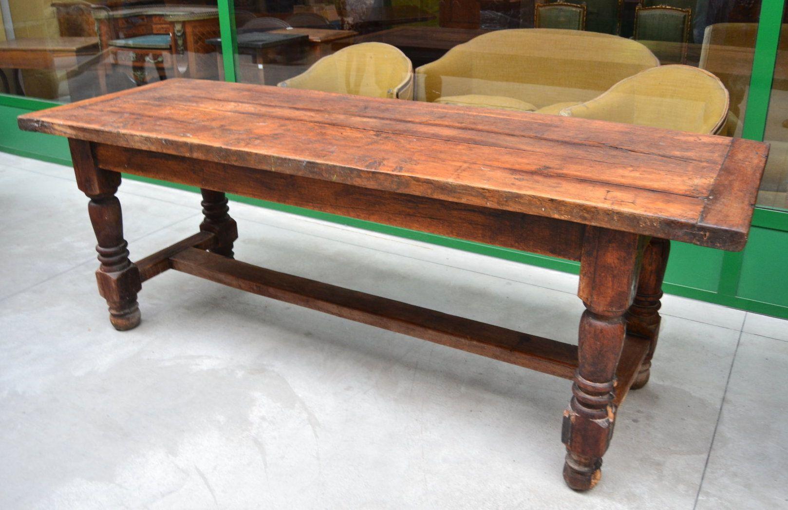 Tavolo Fratino ~ Grande tavolo rustico provenzale metà 800 con traversa bassa tipo