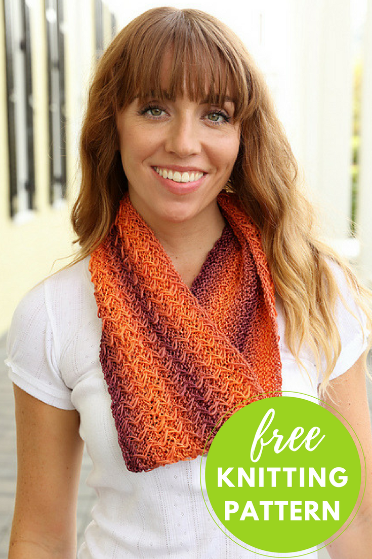 Pendenza Cowl Free Knitting Pattern Cowl Infinity Scarf Knitting