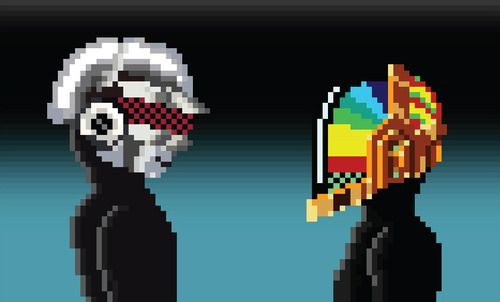 Pixel Daft Punk  Created by Juhyoung Lee