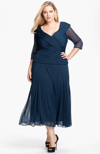 Alex Evenings Portrait Collar Mesh Dress (Plus) available at ...