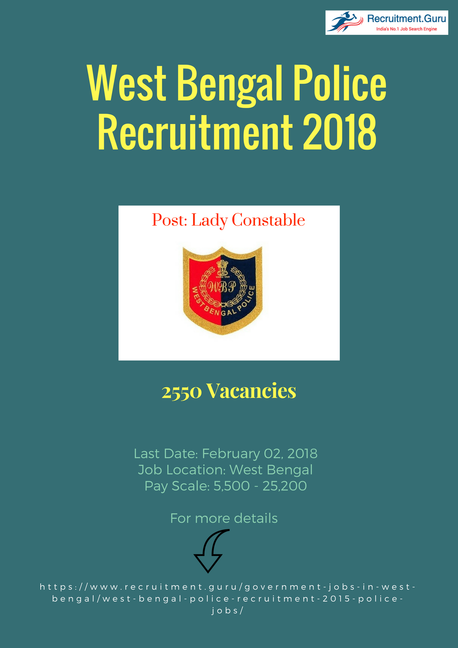 West Bengal Police Recruitment 2018 Notification out  Apply