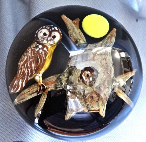 Rick Ayotte Paperweight RARE Spotted Owl Unique 1994 | eBay