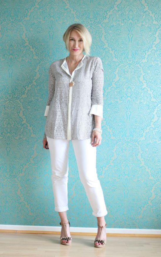Trends For Spring Summer Clothes For Real Women Over 40: Summer Casual Outfits For Women Over 40