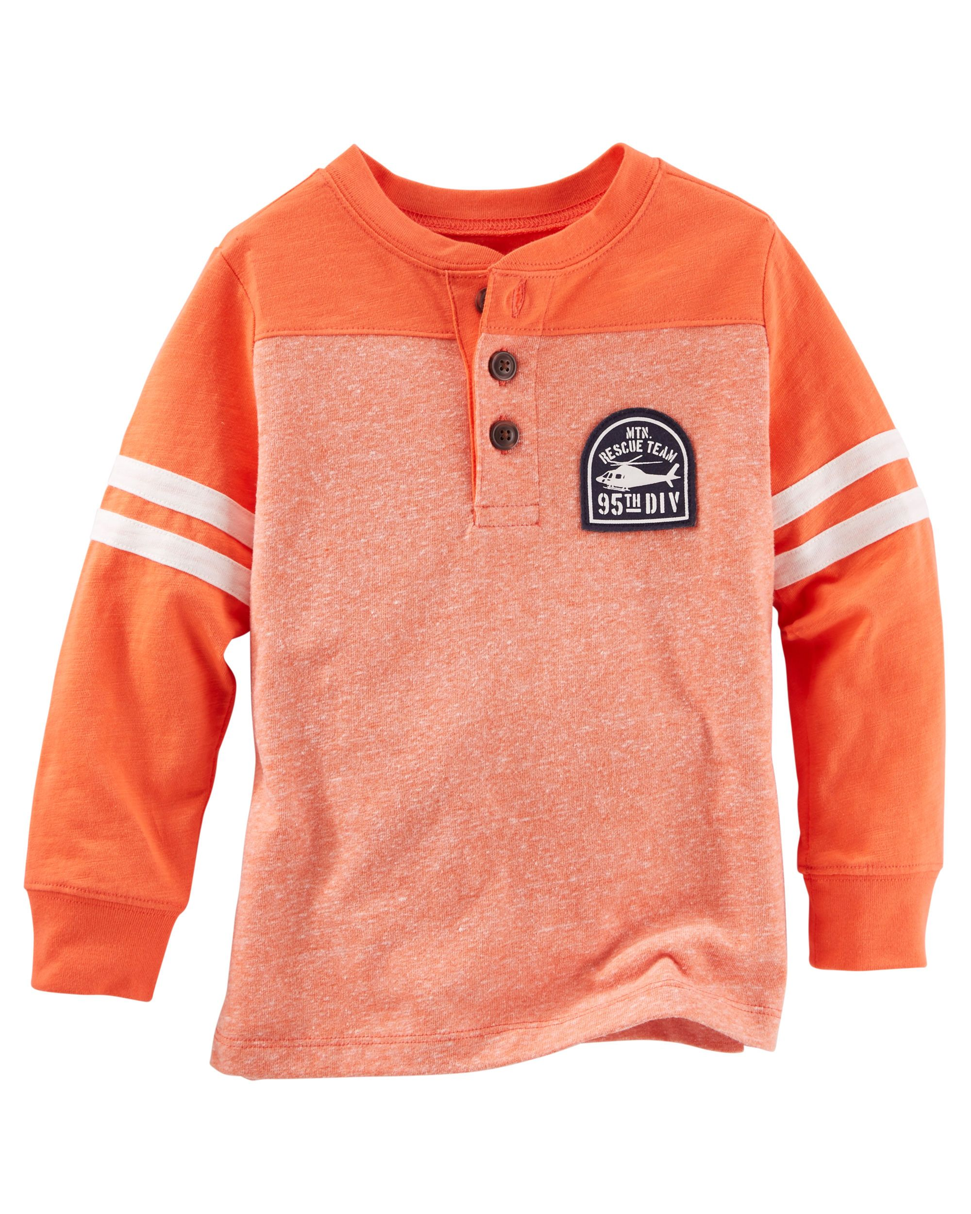 516b04e43 Toddler Boy Colorblock Henley from OshKosh B'gosh. Shop clothing &  accessories from a trusted name in kids, toddlers, and baby clothes.