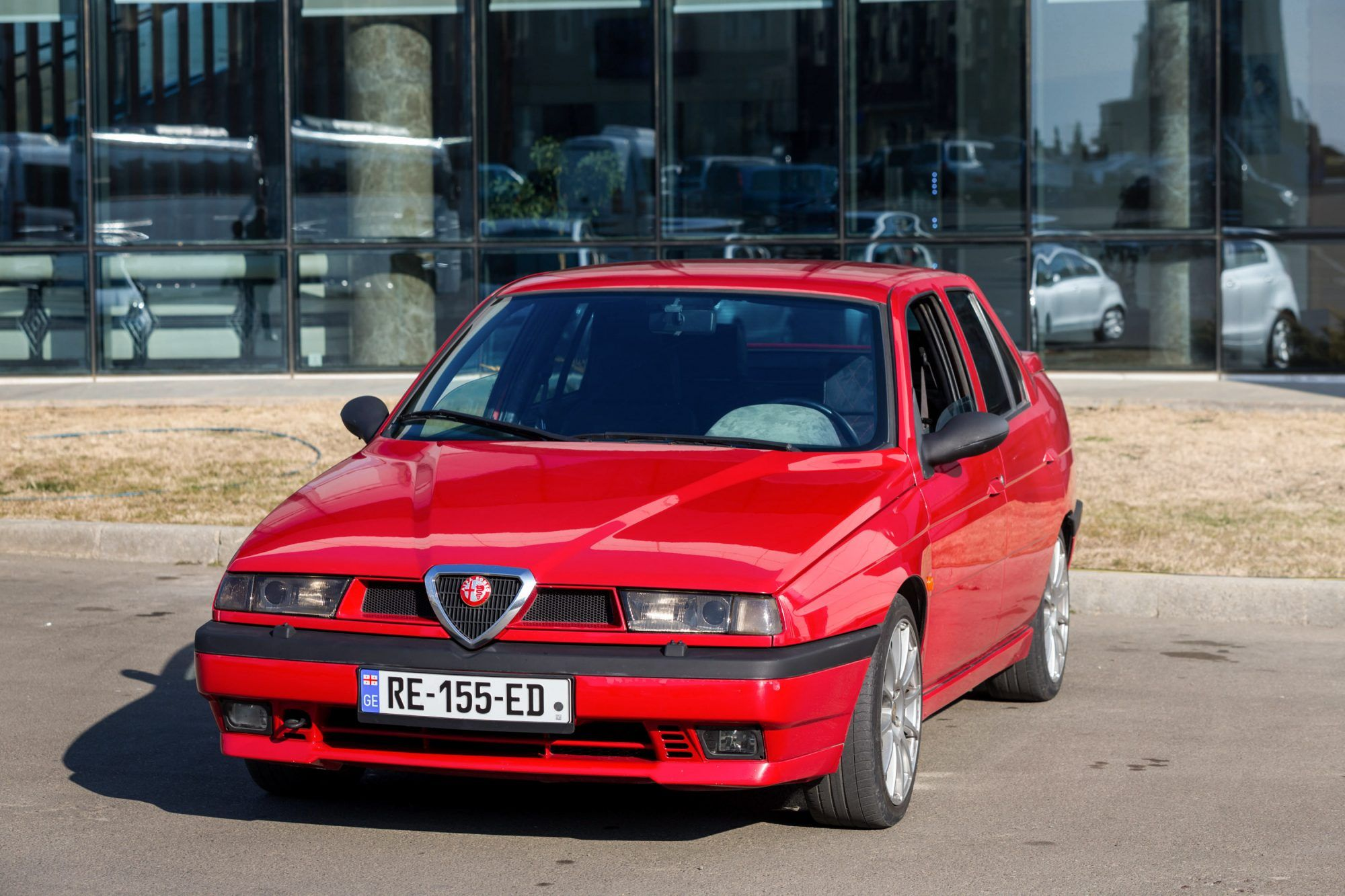 this alfa romeo 155 with a busso 3 0l v6 engine swap is inspired by 90s touring cars alfa romeo 155 alfa romeo touring this alfa romeo 155 with a busso 3 0l