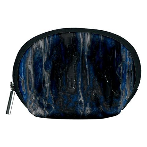 Blue+black+texture+Accessory+Pouch+(Medium)