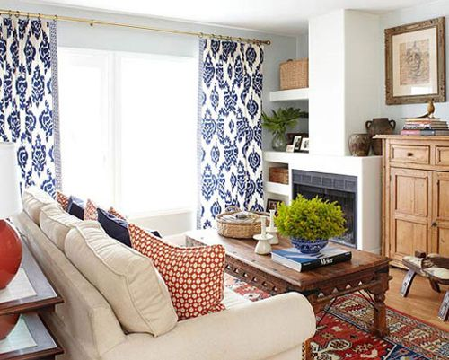 Images About Window Treatments On Pinterest Robert Allen Room Darkening Poly Cotton Blend Privacy Quality Striped Navy Blue And Yellow Curtains