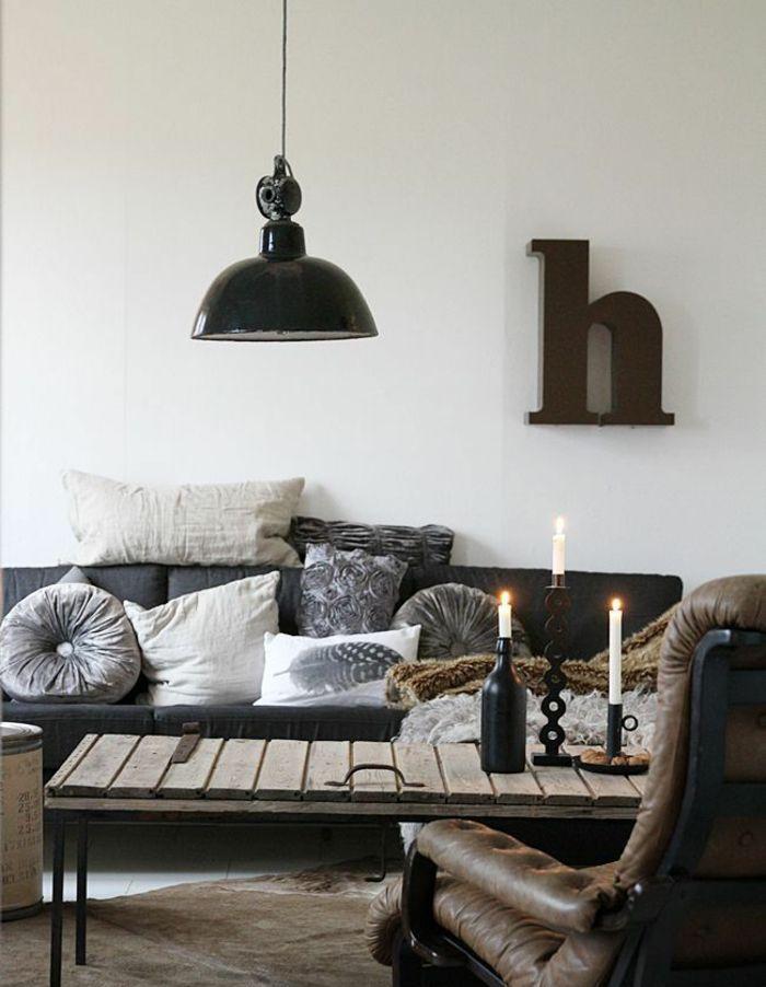 Wohnzimmerideen und Küchendesigns - Industrielle Einrichtungsideen - industrial chic wohnzimmer