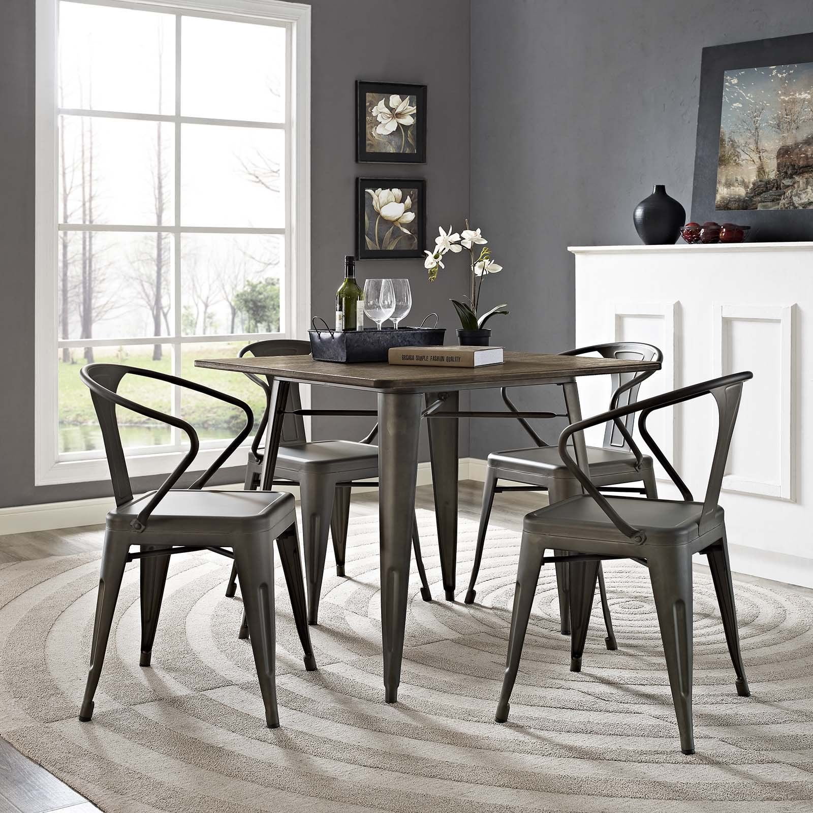 Modway Furniture Modern Promenade Dining Chair Set Of 4