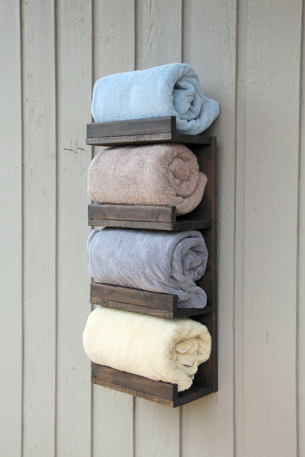 Bathroom Towel Rack 4 Tier Bath Storage Everyday Towel Rack