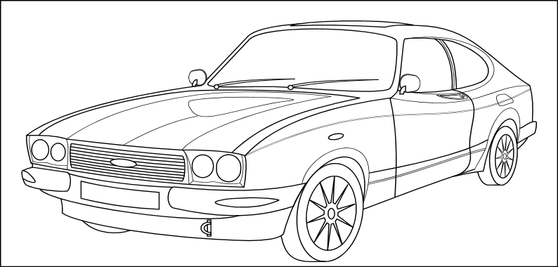 New Ford Capri My Style By Duragan On Deviantart