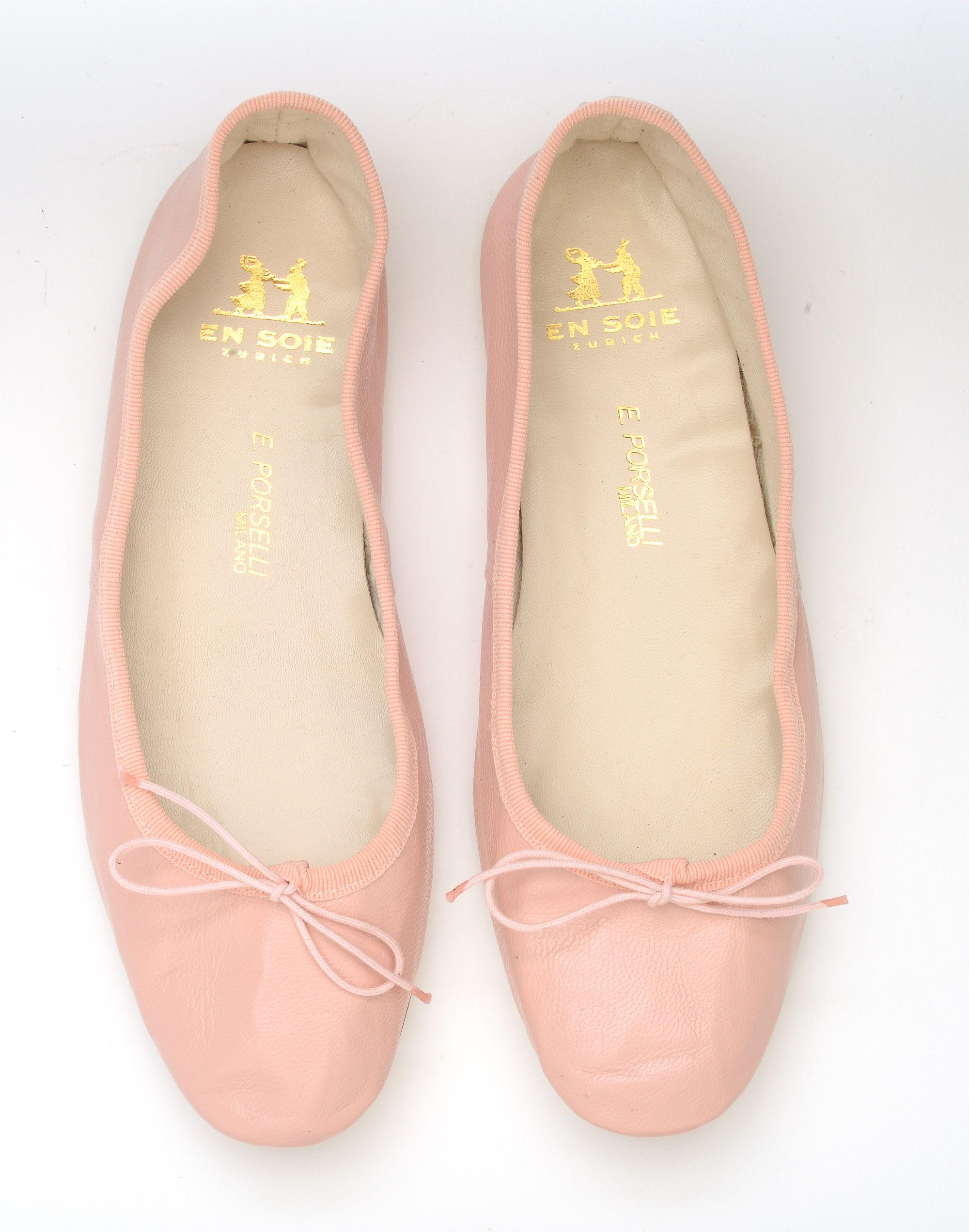 pink porselli ballet flats en soie shoes pinterest pink