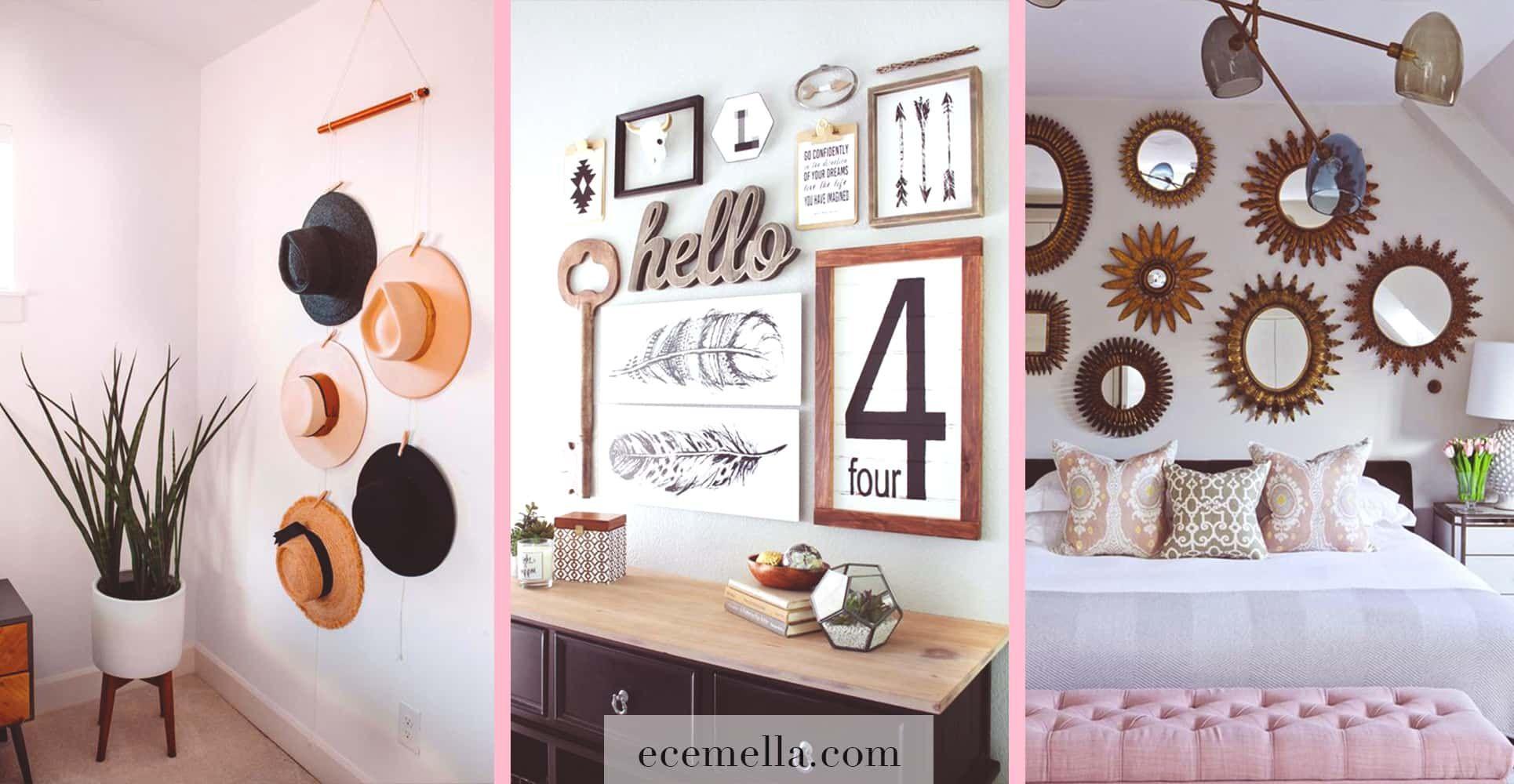 How To Decorate Your Blank Walls 17 Inspirational Chic Ideas Ecemella Fabric Wall Decor Wall Shelf Decor Decor