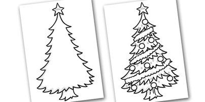 Colouring Christmas Trees In 2020 Colorful Christmas Tree Christmas Primary Christmas Cards Handmade