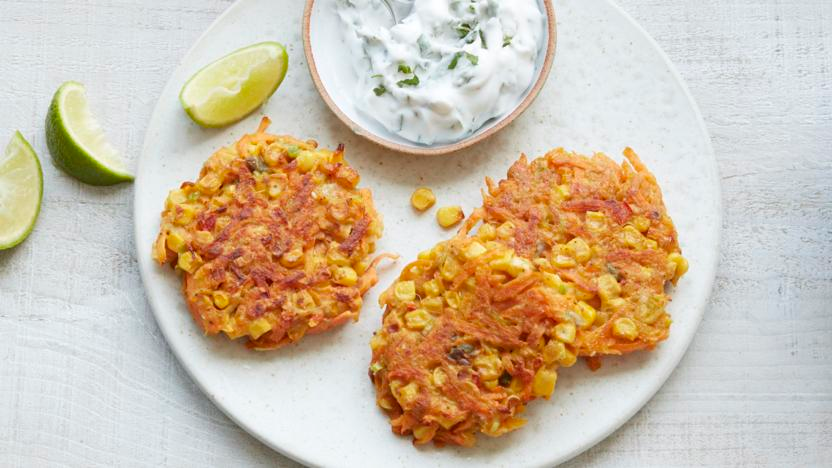 Carrot and sweetcorn fritters #sweetcornideas