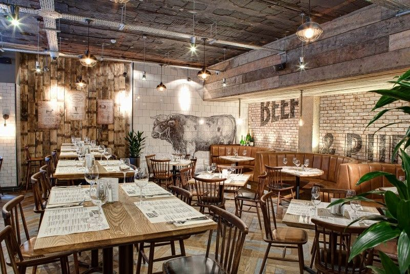 Industrial Rustic Designs dv8 designs has created a true rustic feel in beef and pudding