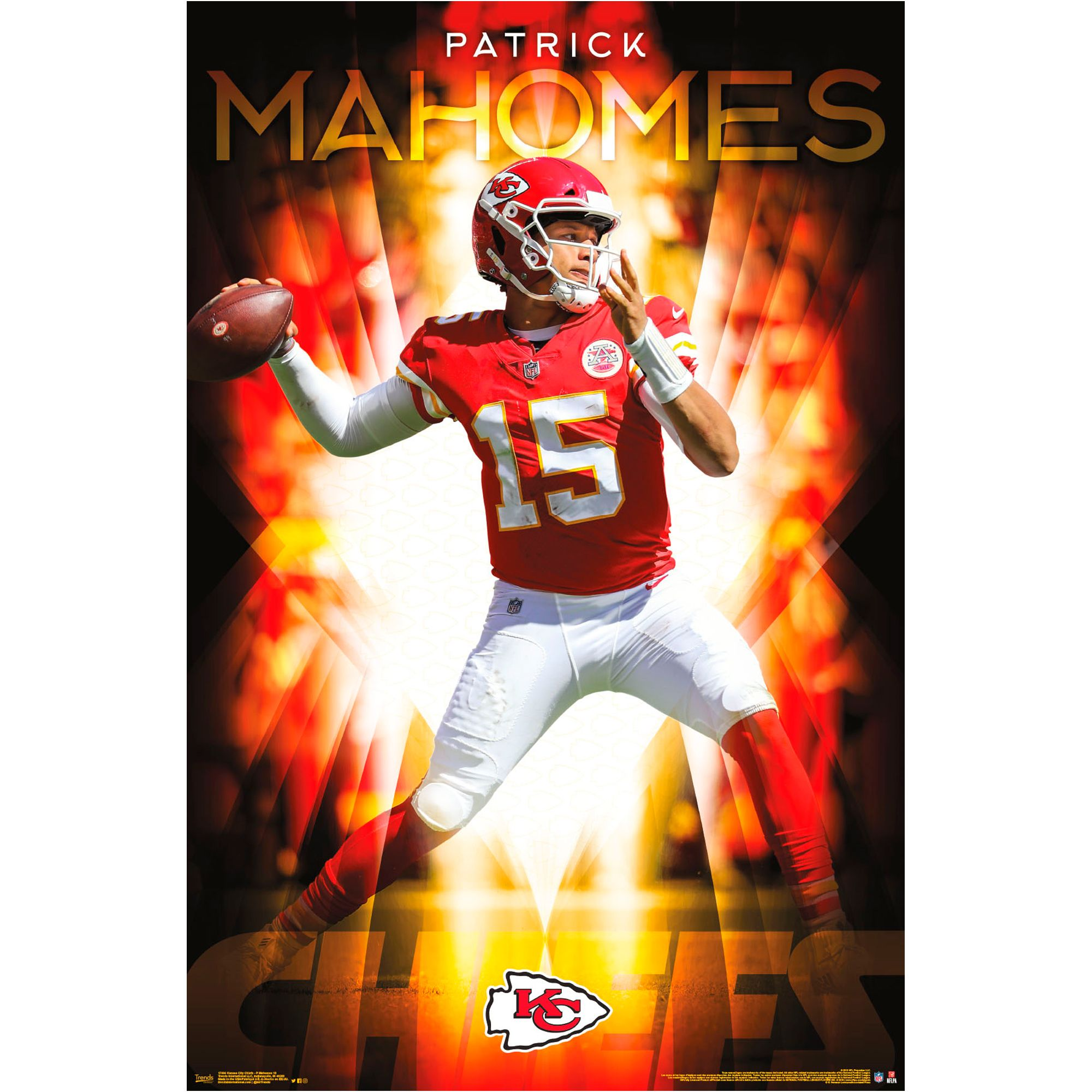 Free 2 Day Shipping Buy Patrick Mahomes Kansas City Chiefs 22 4 X 34 Nfl Association Kansas City Chiefs Nfl Kansas City Chiefs Kansas City Chiefs Football
