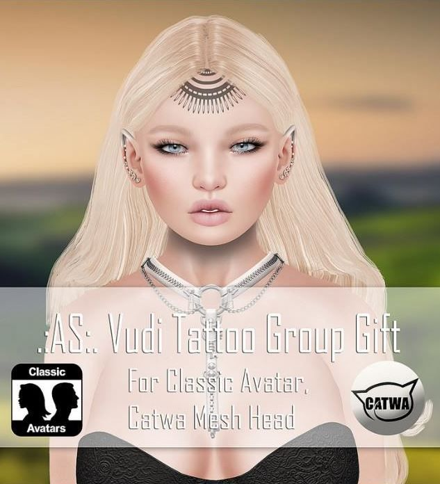 Vudi Tattoo Second Life Group Gift  Come and pick up this free group