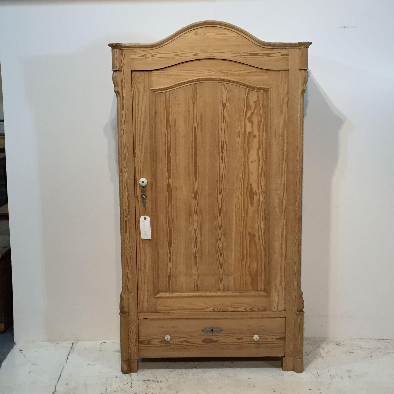 Antique Pine Arched Top Armoire (T5905C)