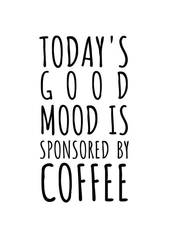 food quotes #food #foods Coffee poster: amp; # 39; good mood coffee amp; # 39 ;. Funny coffee Etsy B R E A K F A S T #coffeequotes Coffee poster: amp; # 39; good mood coffee amp; # 39 ;. Funny coffee Etsy B R E A K F A S T