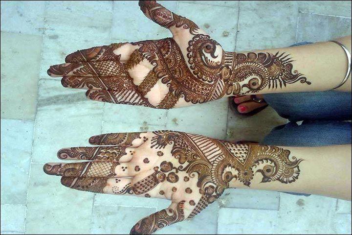 Mehndi Hand With Eye : Arabic bridal mehndi designs for hands trending styles