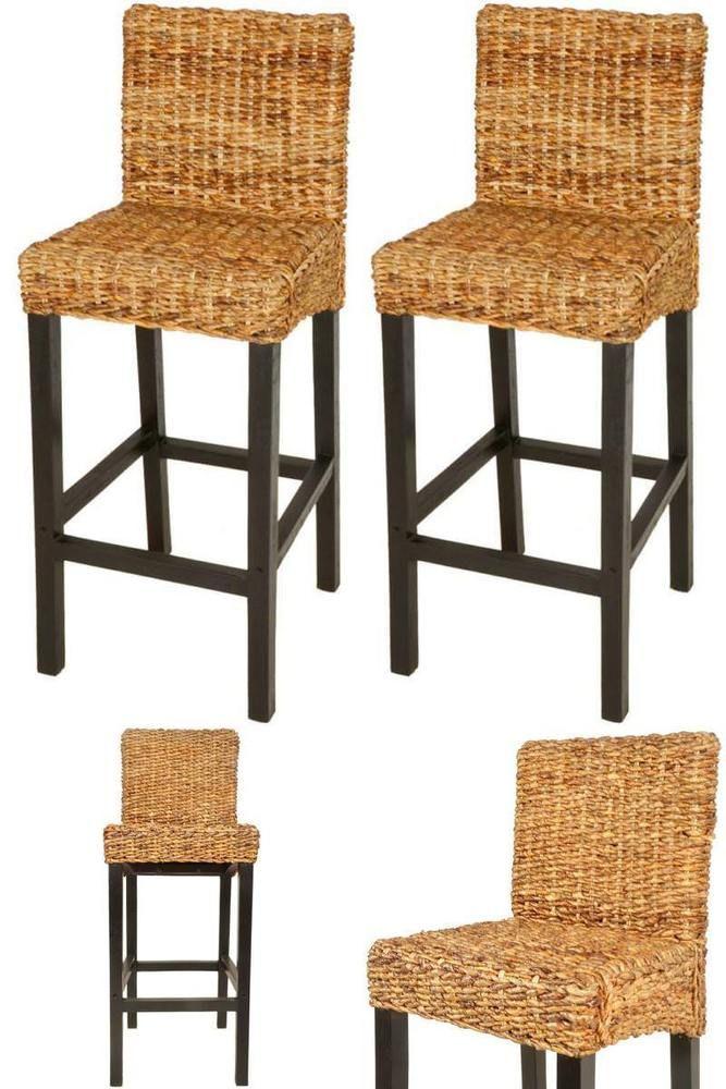 Attirant Kitchen Breakfast Bar Stools 2 Pc Wooden Rustic High Chairs Seats Furniture  Set