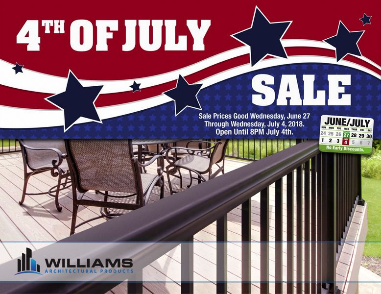 Sale Prices Good Wednesday June 27th 2018 Wednesday July 4th 2018 Open Until 8 Pm July 4th Save Big Money On Your Platform Deck Menards Good Wednesday