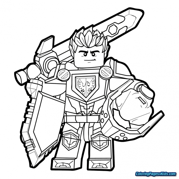 Nexo Knight Coloring Pages Lego Coloring Pages Lego Coloring Kids Printable Coloring Pages