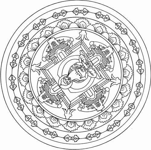 Coloring page Hindu Mythology Buddha (Gods and Goddesses) #42