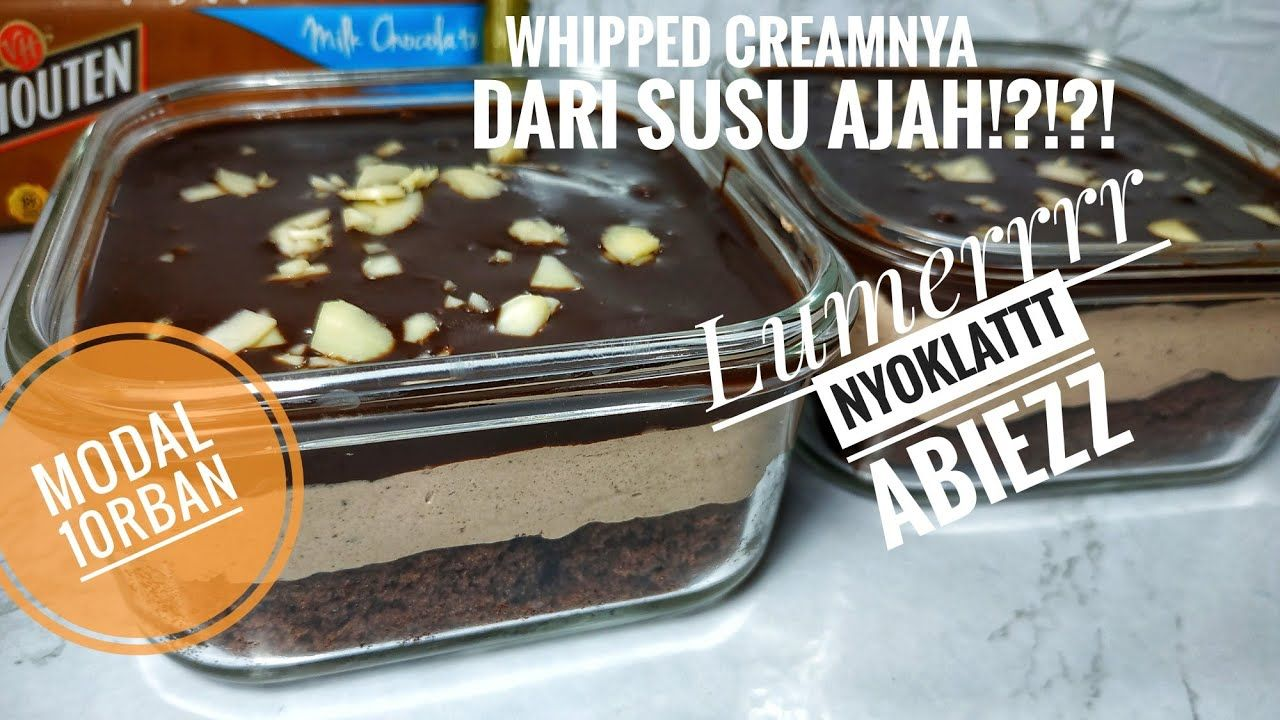 Dessert Box Coklat Bonus Resep Whipped Cream Homemade Youtube Pudding Desserts Makanan Makanan Penutup