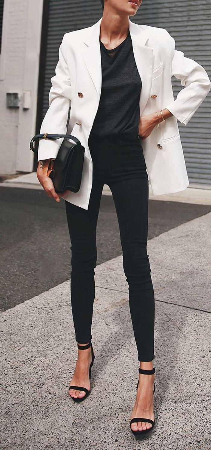 1 pieza, 5 looks: blazer blanco