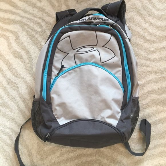 UA Backpack Excellent condition, no stains or flaws, blue and gray, price is firm Under Armour Bags Backpacks