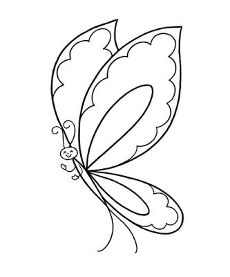 Printable Kid Coloring Picture Of Butterfly