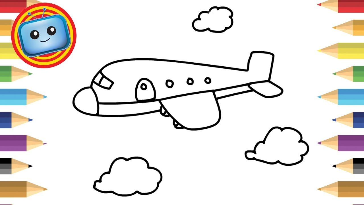 Scribble Drawing Game : How to draw an airplane simple drawing game for kids