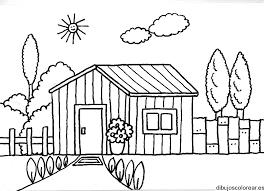 Resultado De Imagen De Casa De Campo Para Colorear Dibujos