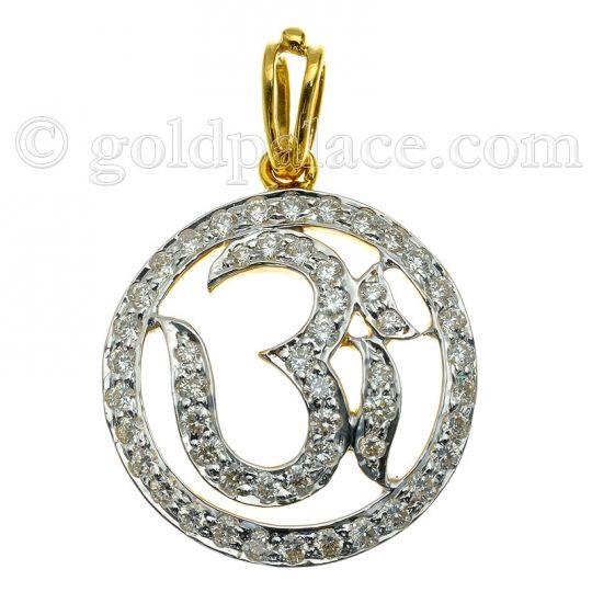 Diamond om pendant 18k gold jewelry pinterest om pendant 18k diamond om pendant 18k gold mozeypictures Image collections