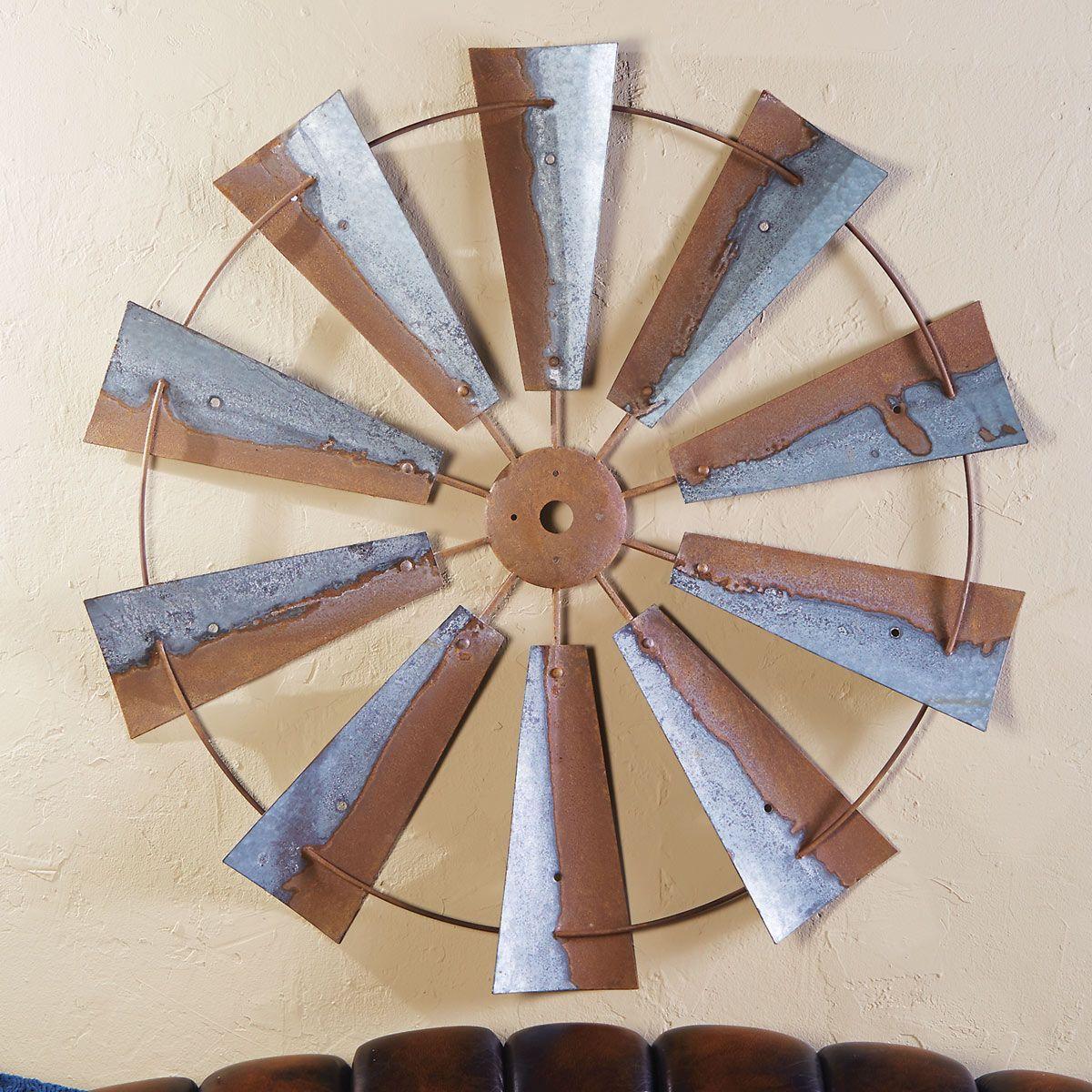 Rustic Metal Wall Art Large Metal Windmill Wall Hanging Metal Windmill Outdoor Metal Wall Art Windmill Wall Decor
