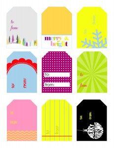 Free printable homemade christmas gift tags