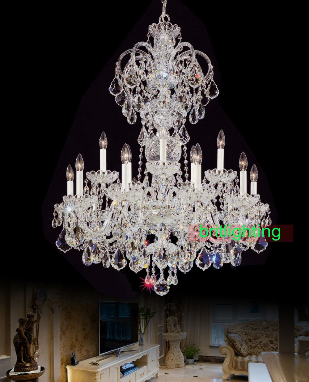 Reviews modern big chandelier lamps european candle chandeliers home reviews modern big chandelier lamps european candle chandeliers home lighting decoration bohemian crystal chandelier with crystals aloadofball Choice Image