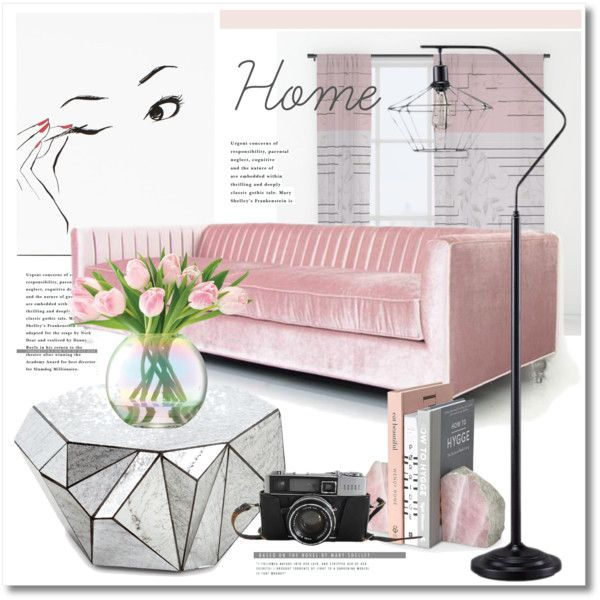 Home & Vintage by stylemaven2 on Polyvore featuring interior, interiors, interior design, home, home decor, interior decorating, LSA International, vintage, Pink and Home