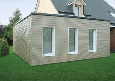Image result for extension toiture plate en maçonnerie | House exterior, Outdoor, Structures