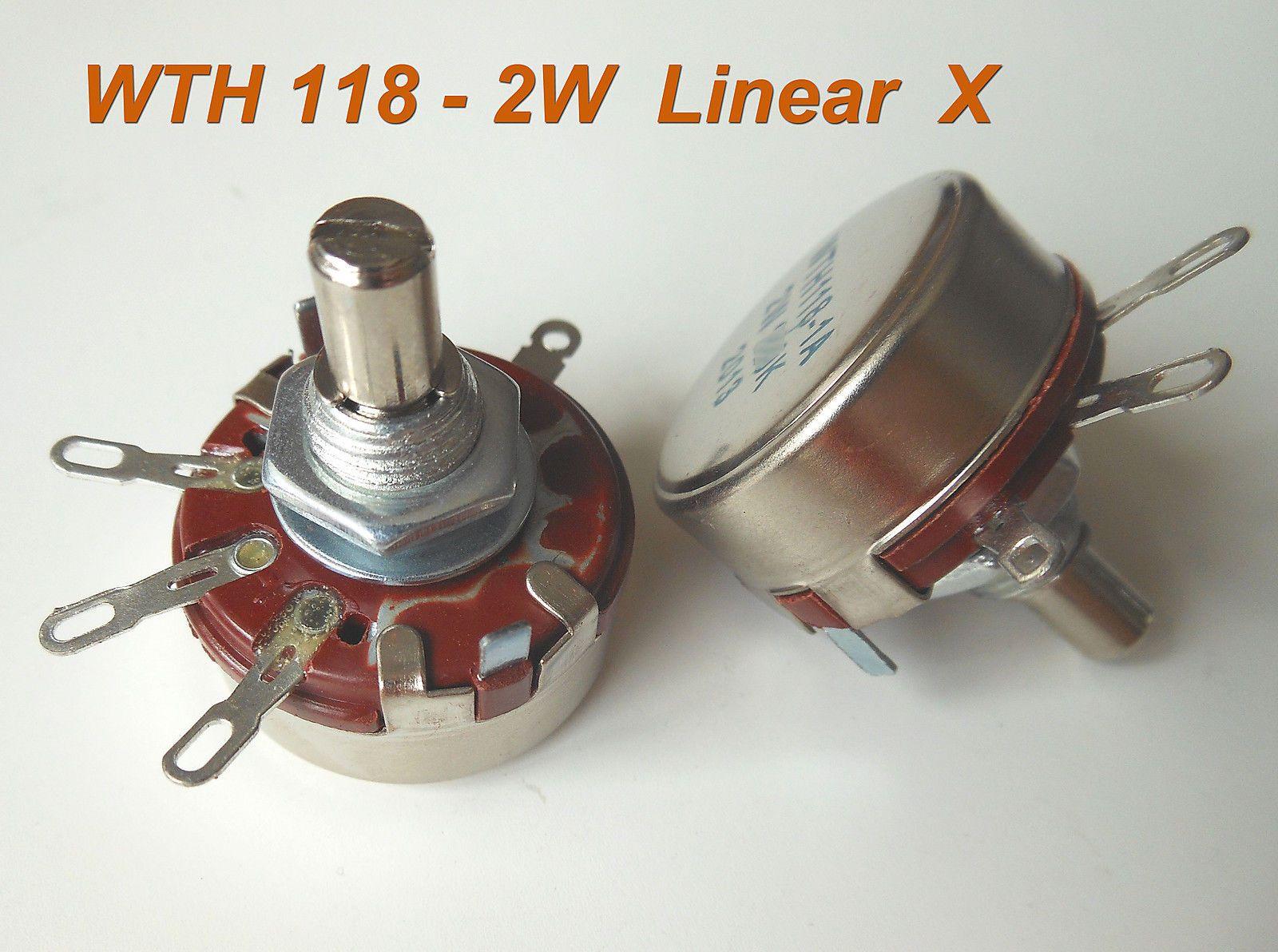 $10 15 - 10Pcs Wth118 Wth118-1A 2W Linear Potentiometer 1K 1 5K To