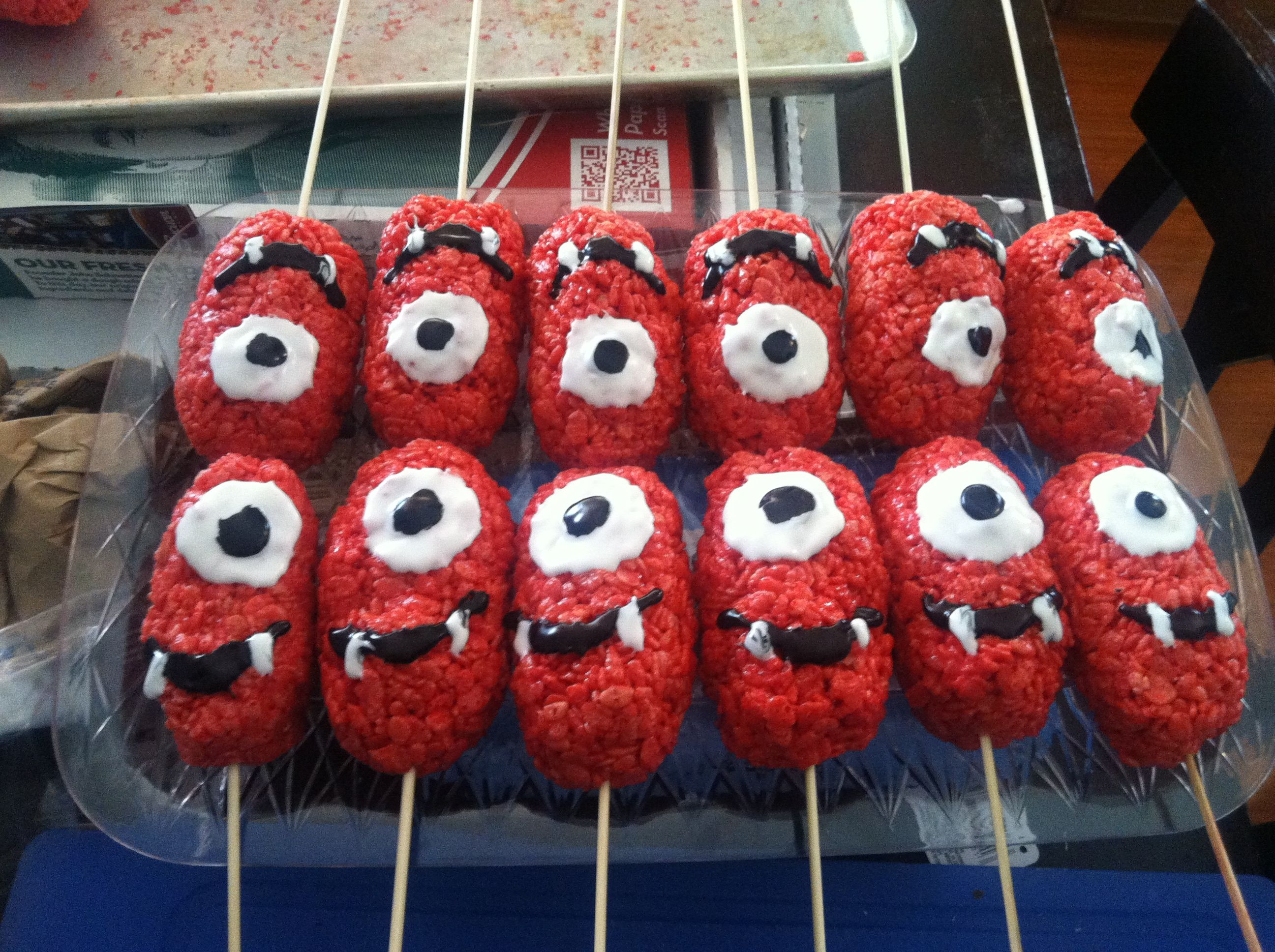 Yo Gabba Gabba Rice Crispy Treats. When melting marshmallows and ...