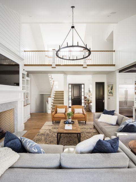 42 Cozy Modern Farmhouse Living Room Decorating Ideas