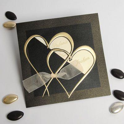 Romantisch Ausgefallene Einladungskarten Bronze Hochzeit P