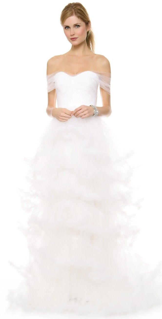 a8403c42fc8c Marchesa Off Shoulder Tulle Ball Gown