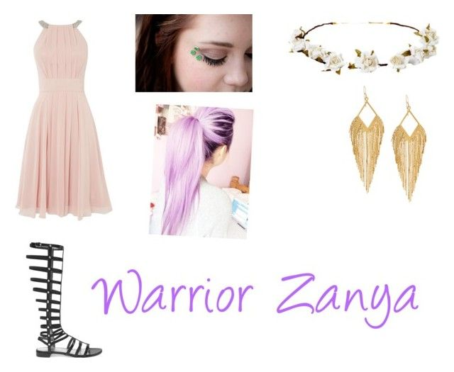 """""""Zanya's warrior outfit"""" by eviehartleytull on Polyvore featuring beauty, Eliza J, Stuart Weitzman, Cult Gaia, Panacea and By Emily"""