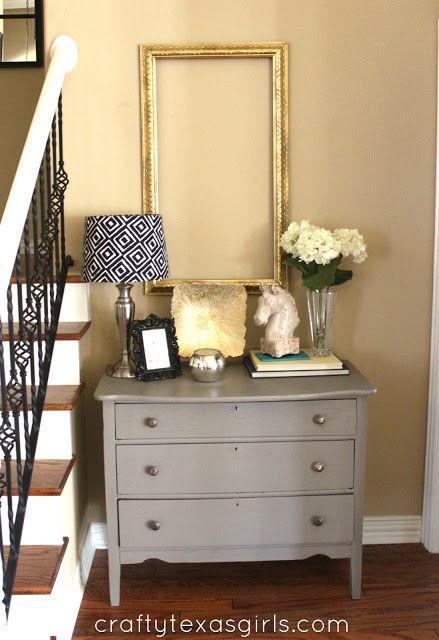 dresser in hallway with
